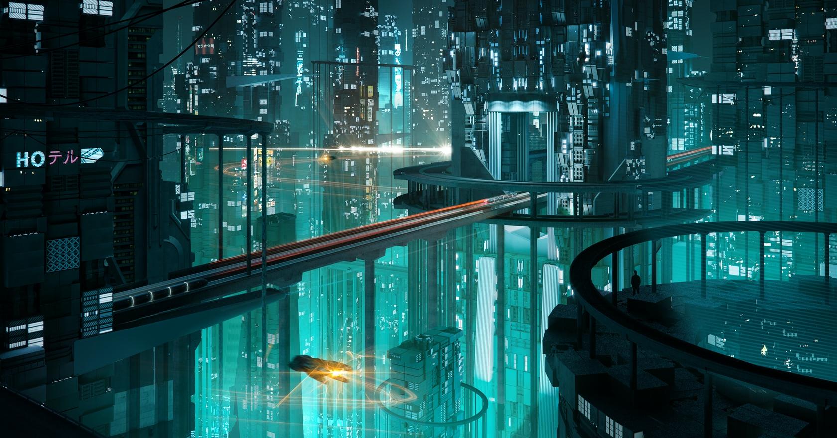Futuristic city NFT